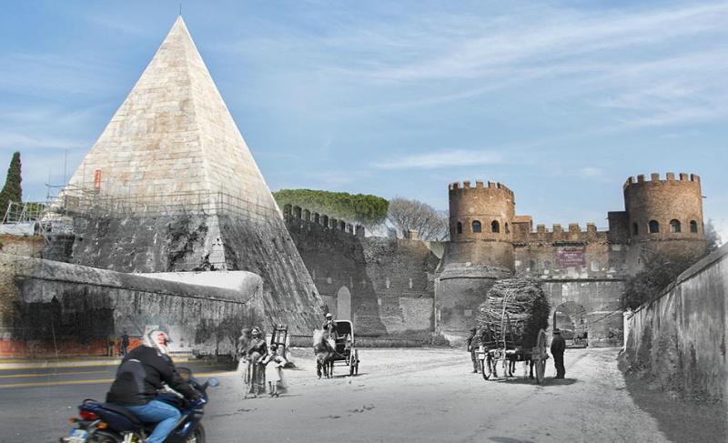 ostiense roma antes y después