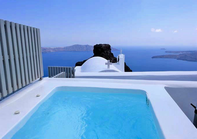 santorini grace superior suite piscina