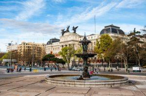 Paseo del Prado - donde alojarse en madrid